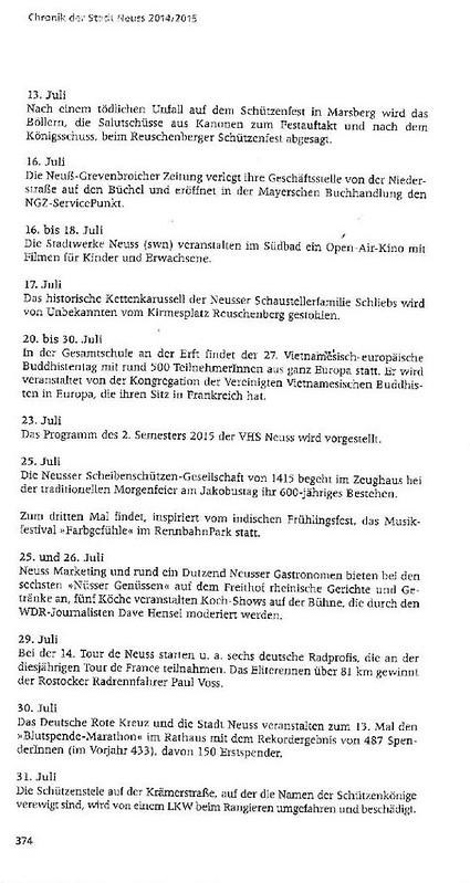 Chronik der Stadt Neuss 2014-2015