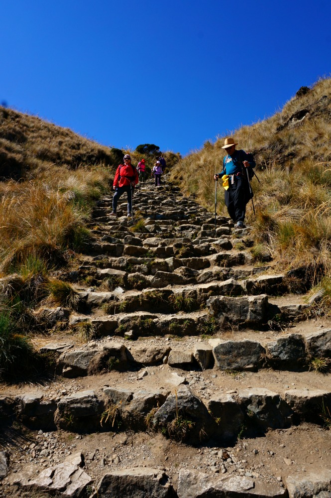 Steep steps on the Inca Trail