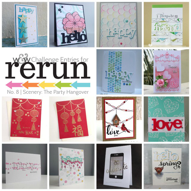 Rerun No 8 Challenge Enteries Collage