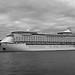 Voyager docked BW
