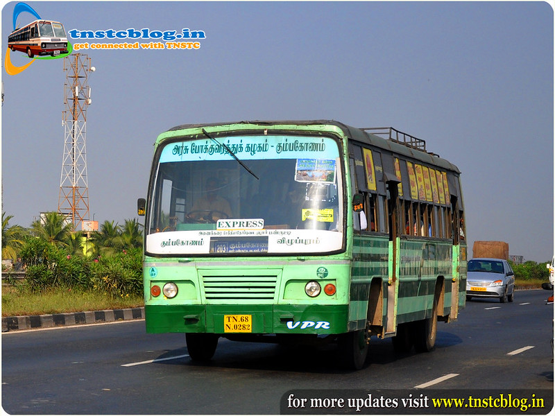TN68N.0282 Of Tnstc Kumbakonam Pura Nagar Depot Towards Kumbakonam From Chennai
