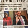 Irish election called. Please note the party names, poll numbers and the photo chosen for the Taoiseach (Prime Minister), Edna Kenny.