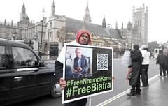 Free Biafra and free Nnamdi Kanu - Biafran separatist leader imprisoned in Nigeria.