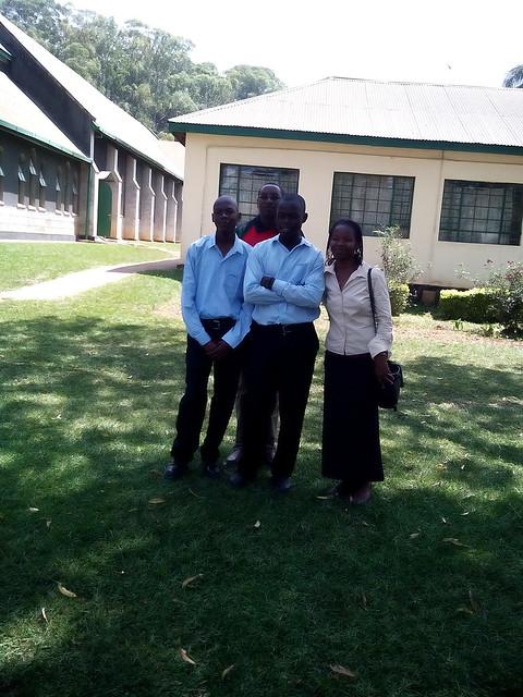 Collins, Joe & Lucy meet Collin's Mentor at High School