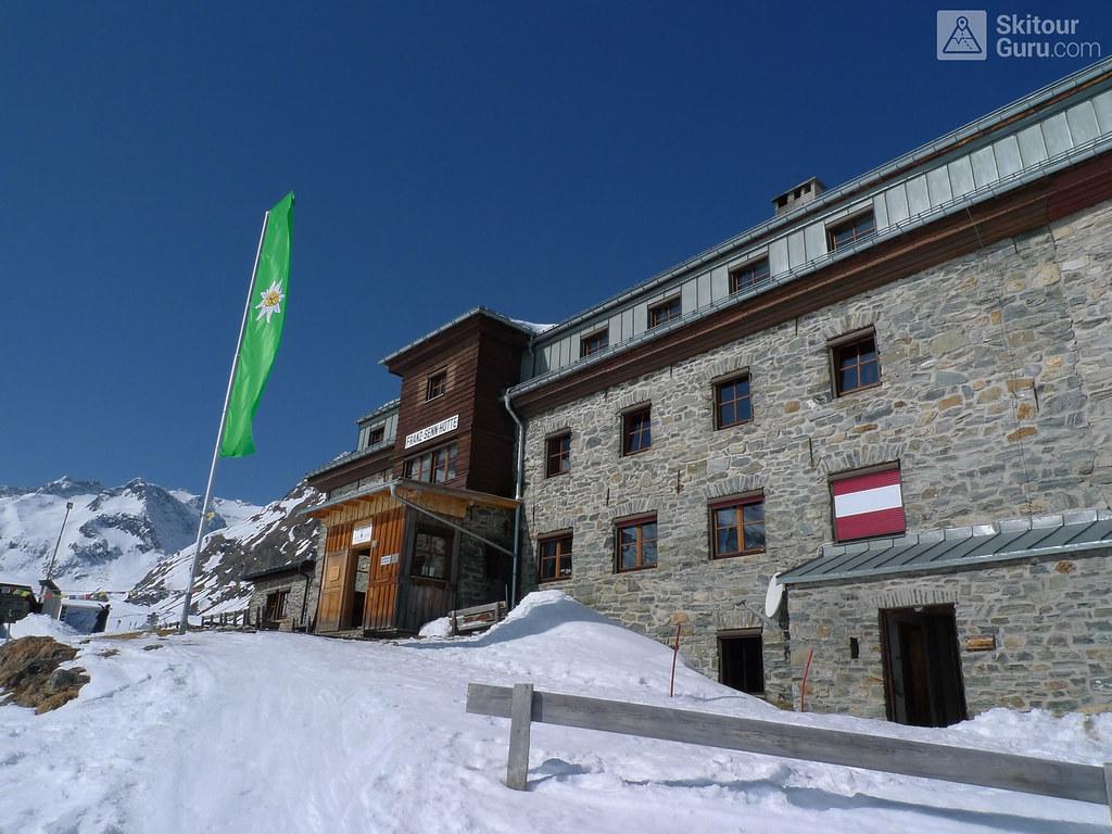 Franz Senn Hütte Stubaiské Alpy Österreich foto 04