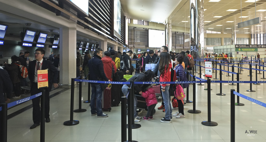 Queue for check-in