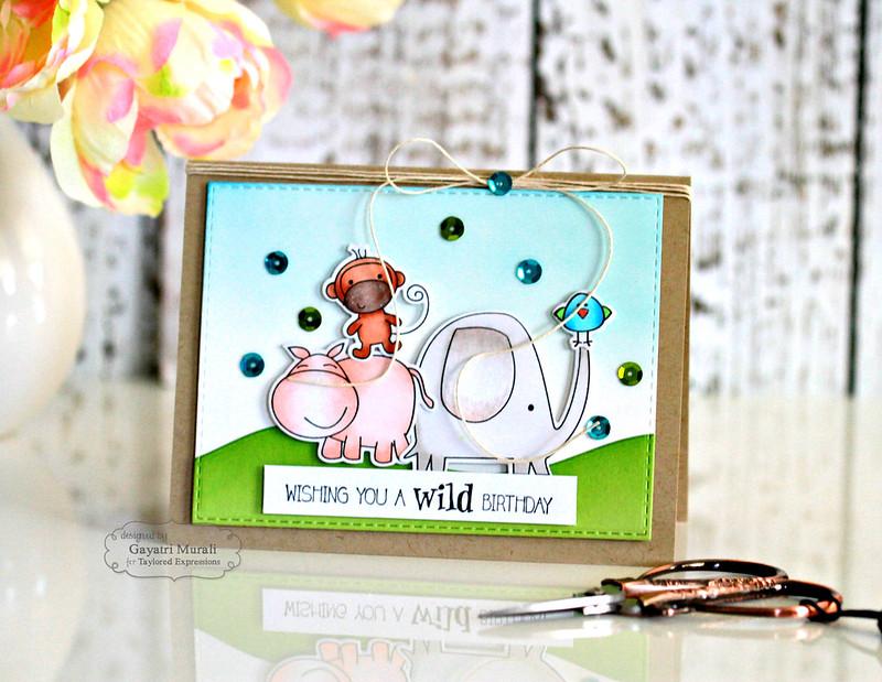 Wishing You a Wild Birthday card