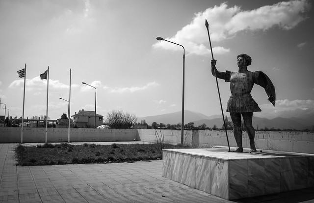gardien de la frontière Grèce-Macédoine