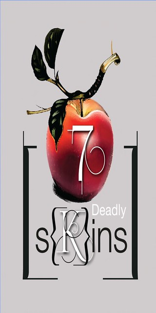 7 Deadly s{K}ins logo NEW with red
