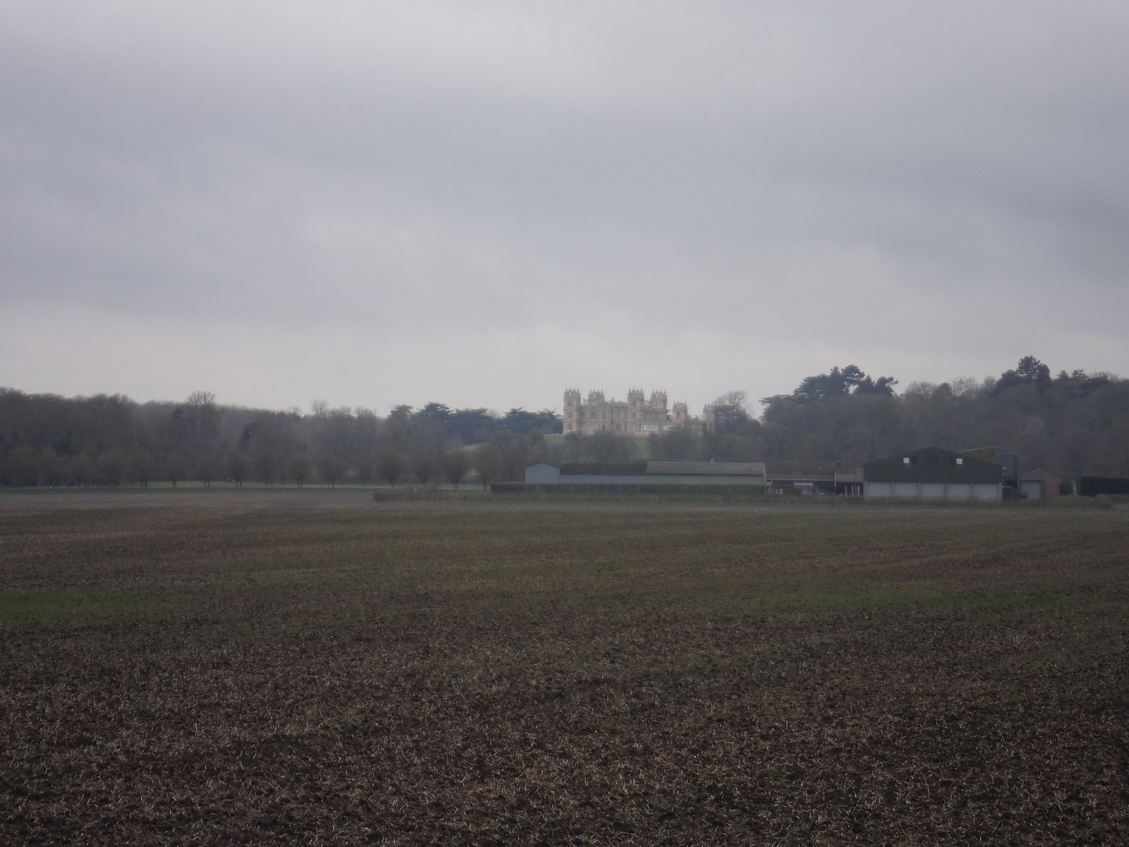 Mentmore Towers from footpath by Cheddington station SWC Walk Cheddington to Leighton Buzzard