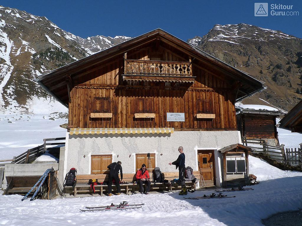 Franz Senn Hütte Stubaiské Alpy Österreich foto 12