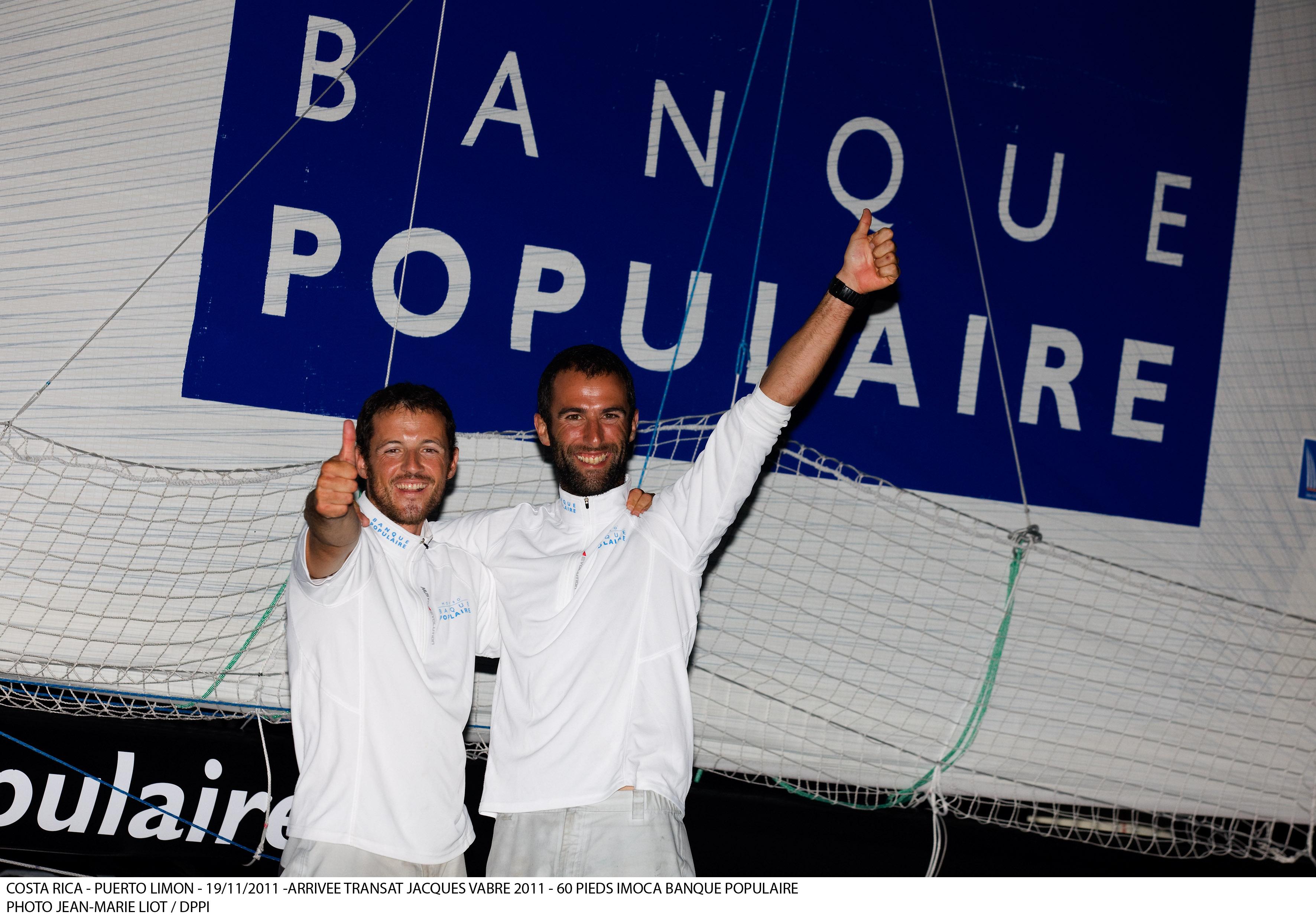 Arrivée du Mono 60 Banque Populaire  Transat Jacques Vabre 2011 - 19-11-2011 - BPCE
