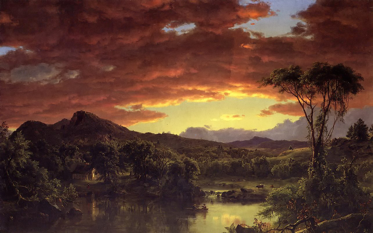 A Country Home by Frederic Edwin Church, 1854