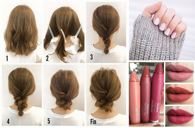 spring hairstyles lipstick and nail polish colors