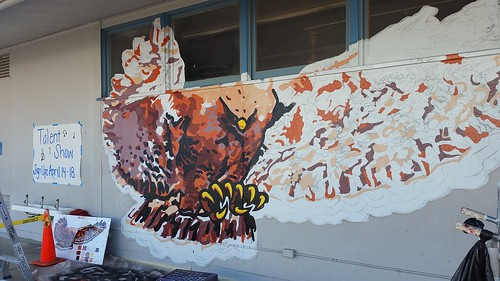 Mural project - Hutchison Hawks!