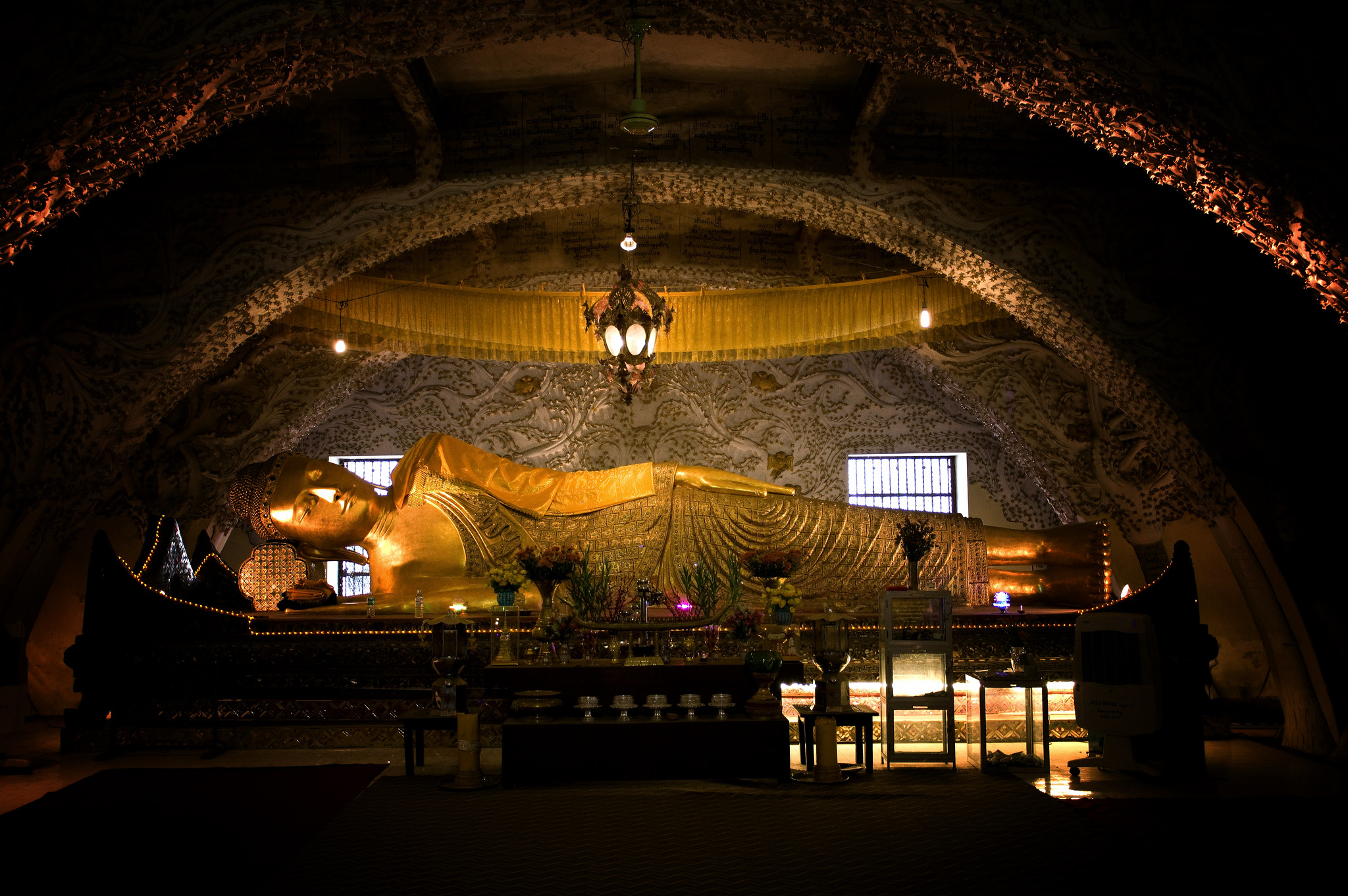 A Reclining Buddha At The Base Of Mandalay Hill