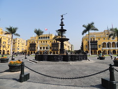 Plaza de Armas - the main square of Lima Peru