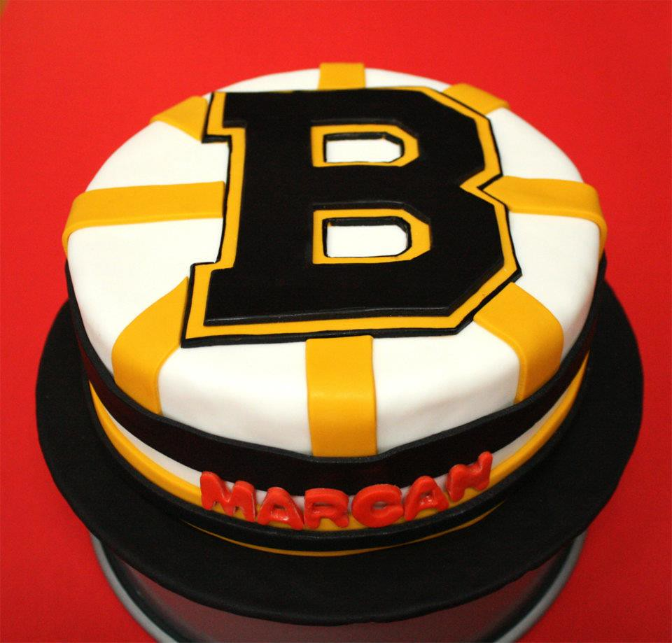 Boston Bruins Birthday Cake