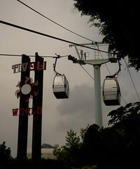 Cable cars from Tivoli World