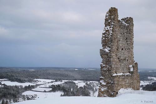 Winter auf Burgruine Hohenburg I