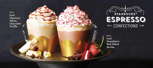 Starbucks 2016 Strawberry Red Velvet Mocha & Chestnut White Chocolate Truffle
