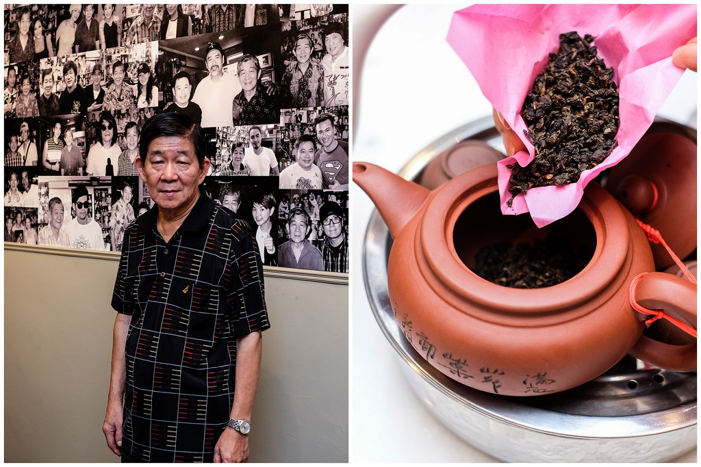 Founder Bak Kut Teh Owner Mr Chua Chwee Whatt & a pot of Chinese Tea