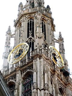 World Heritage Belfry of the Cathedral of Our Lady, Onze-Lieve-Vrouwekathedraal, in Antwerp Belgium