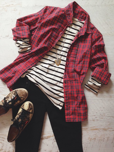 tomboy plaid + stripes
