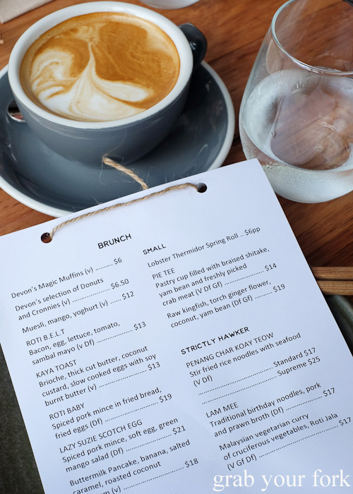 Brunch menu at Lazy Suzie, Darlinghurst