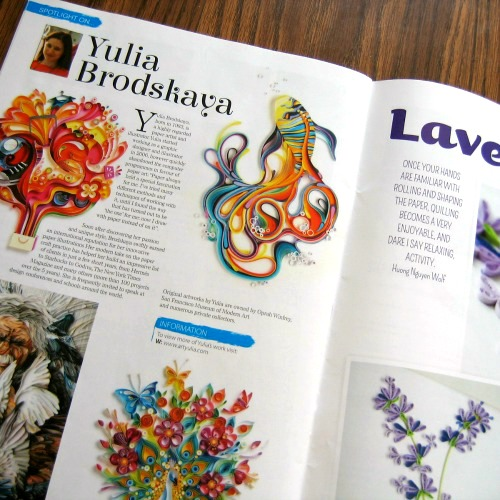 """Get Creative with"" Quilling Spotlight - Yulia Brodskaya"