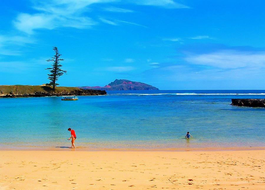 Emily Bay, Norfolk Island. Image credit Steve Daggar