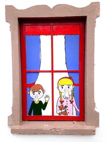 A happy window