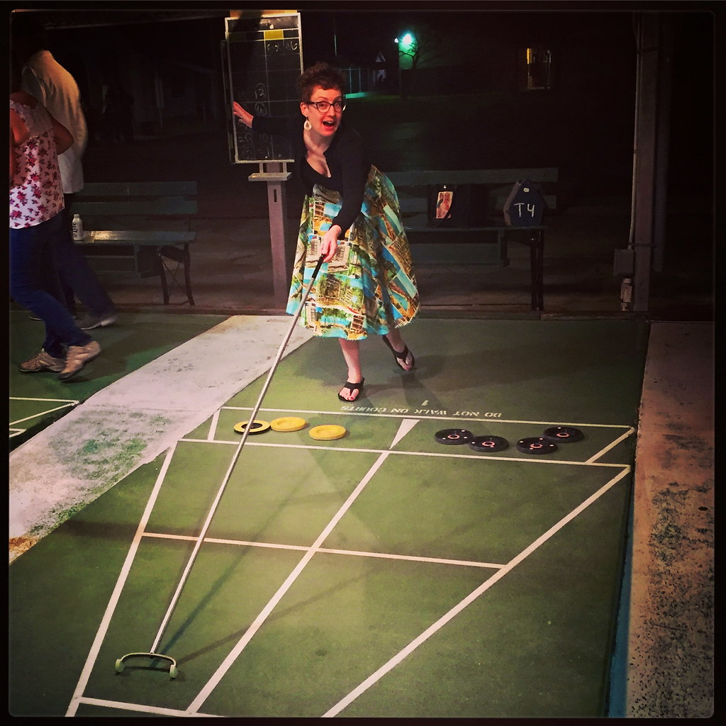 St. Pete Shuffleboard Club Saint Petersburg Florida Retro Roadmap