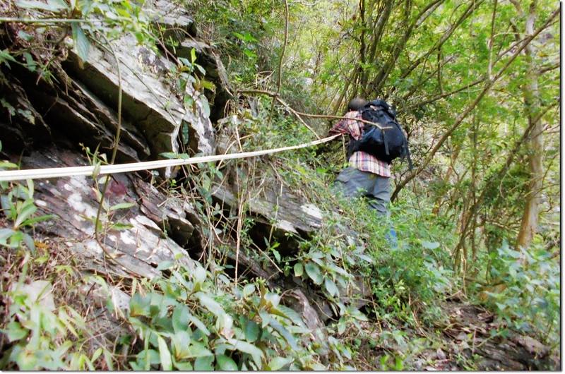 垂直岩壁區(下山) 1