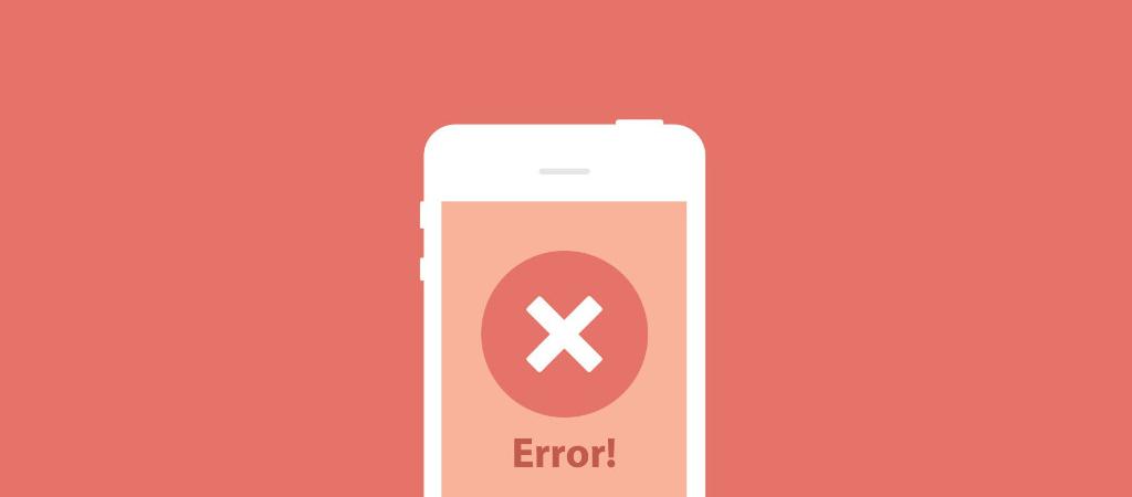 Error en UX móvil