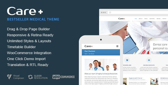 Care v4.3.6 - Medical and Health Blogging WordPress Theme