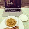 A perfectly cooked lauki chana dal sabji and an Aaron Sorkin creation to sum up the day!