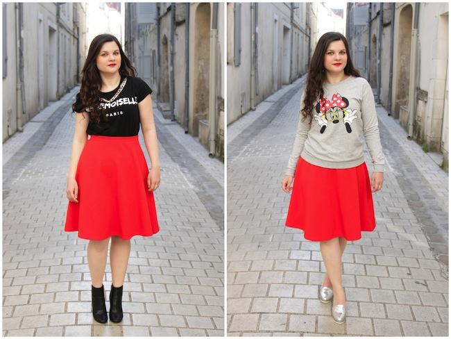 Conseil_mode_2_façons_de_porter_la_jupe_midi_rouge_blog_mode_la_rochelle_1