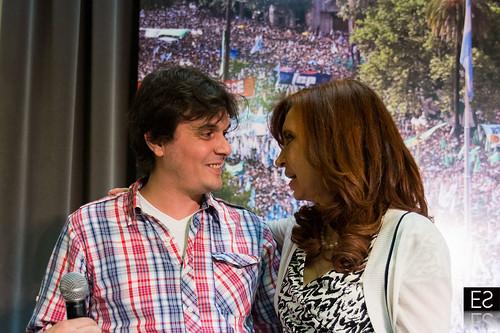 CFK con científicos