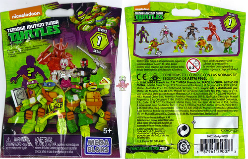 MEGA BLOKS :: Nickelodeon TEENAGE MUTANT NINJA TURTLES :: Micro Action Figures Series I, blind bag (( 2016))