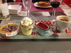 Café gourmand at La Mandoline, Ligueil