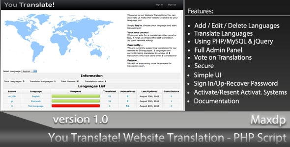 CodeCanyon You Translate! v1.0 - Website Translation System