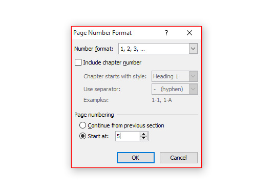Format Page Number