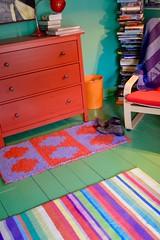 New rag rug . . .
