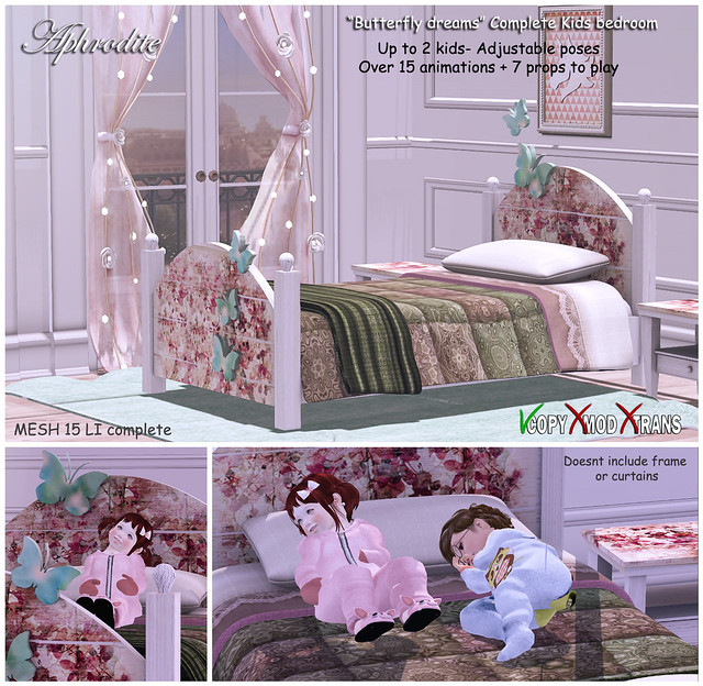 Aphrodite Butterfly dream kids bedroom
