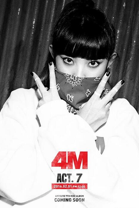 4Minute libera as primeiras imagens para o seu próximo Comeback