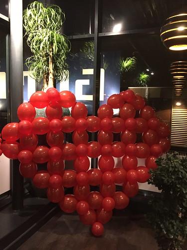 Ballonnenwand Hart Valentijnsdag Watertuin Spijkenisse