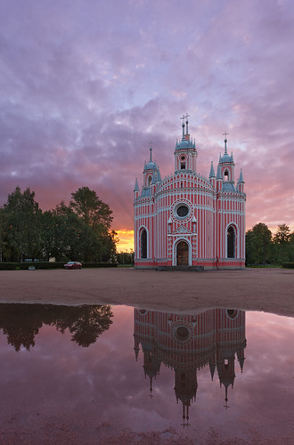 church saint sunrise russia petersburg церковь санктпетербург рассвет чесменская