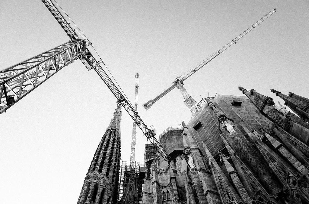 Cranes of Basílica de la Sagrada Família