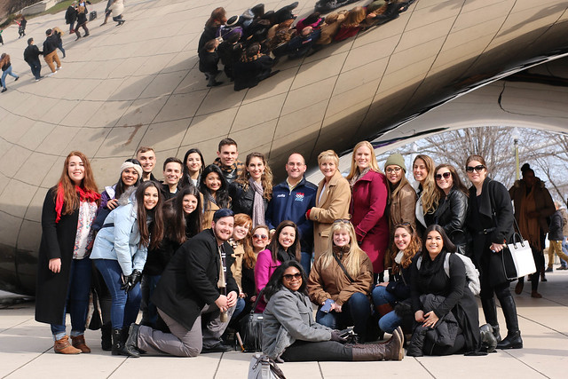 The UCF Chicago Alumni Chapter welcomed a group of UCF students to the Windy City during a networking event on Tuesday, March 8, 2016.